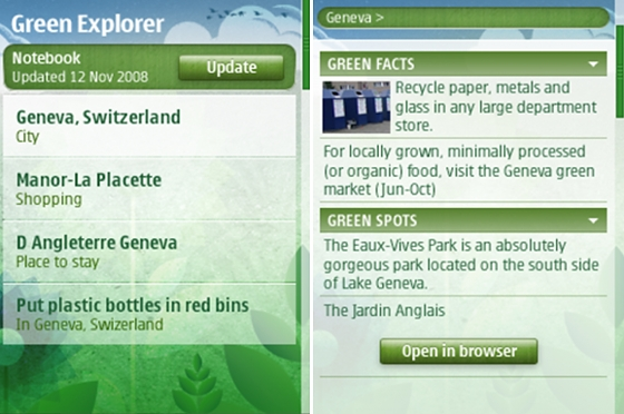 nokia-green-explorer-app