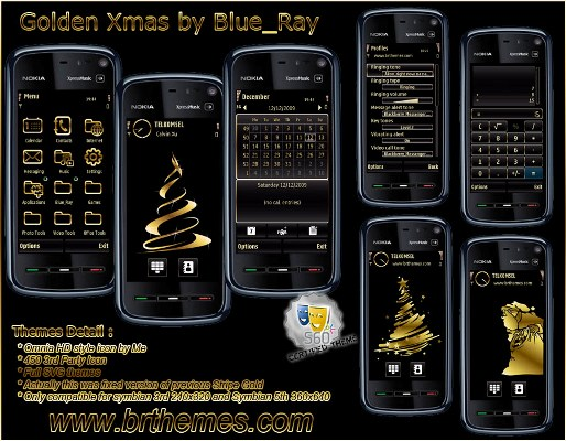 nokia-n97-darmowe-motywy-golden-xmas