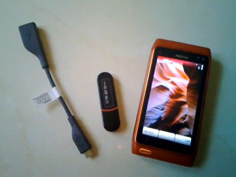Nokia N8 and USB OTG wire