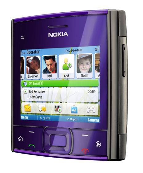 Nokia X5 Purple