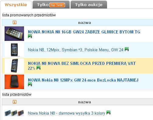 Nokia N8 allegro