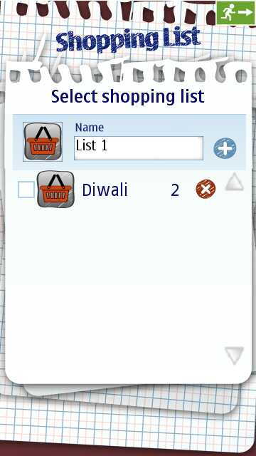 Nokia Shopping List