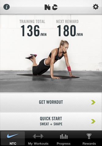 NikeWomen Training Club iPhone app