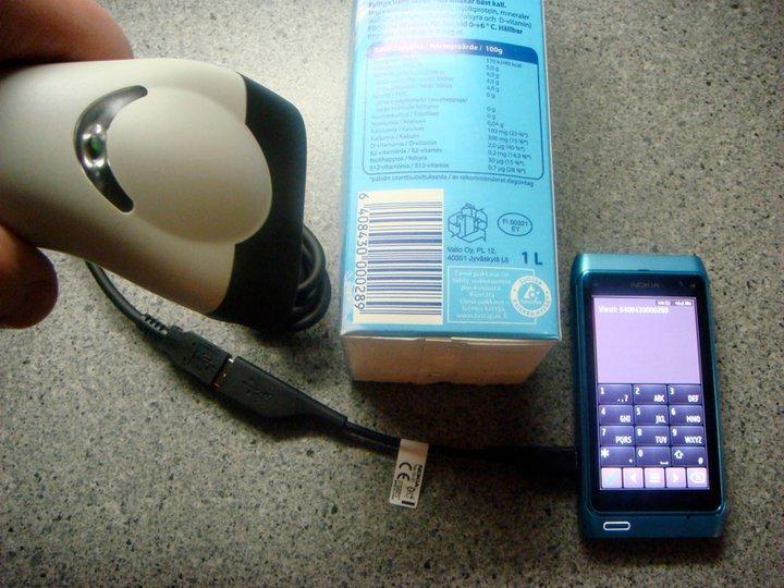 Nokia N8 skaner kodow kreskowych