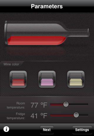 Serve wine iphone