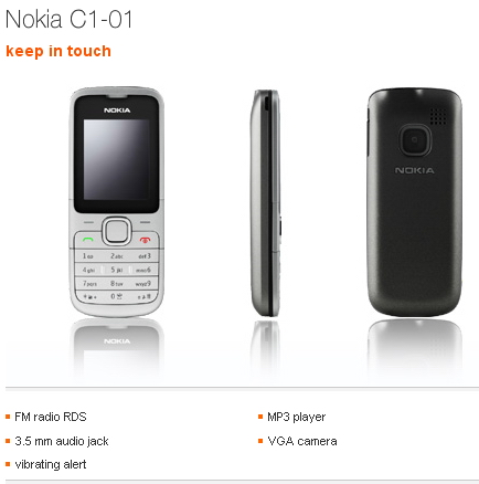 Nokia C1-01 Orange UK