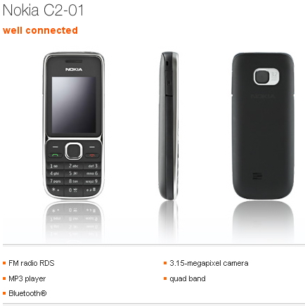Nokia C2-01 Orange UK