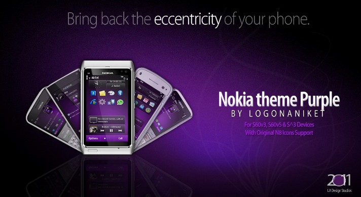 Nokia theme Purple
