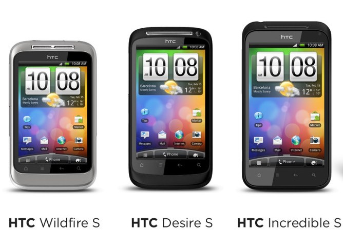 HTC Desire S HTC Wildfire S HTC Incredible S