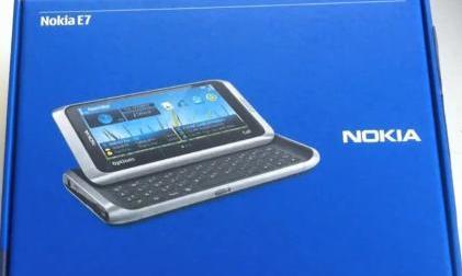 Nokia E7 box