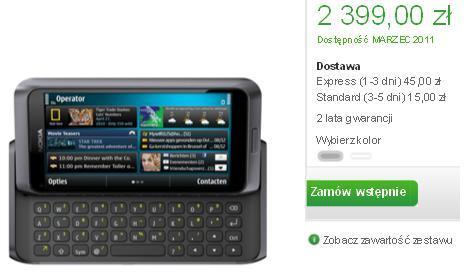 Nokia E7 przedsprzedaz