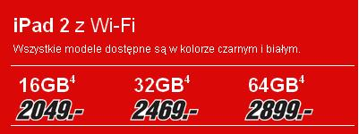 iPad 2 WiFi cennik