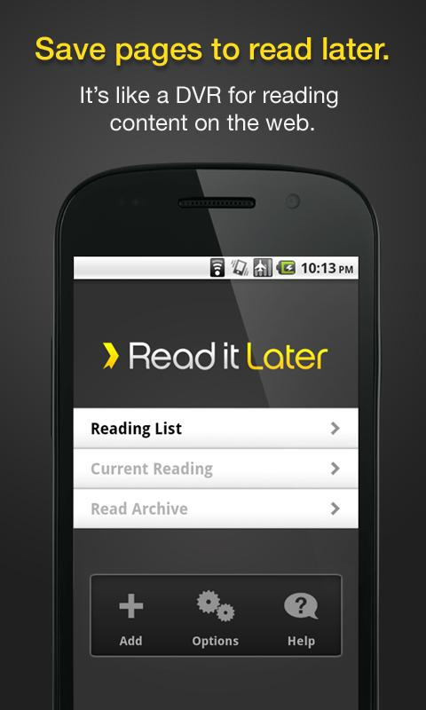 Android app read it later