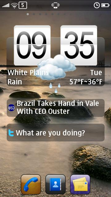 Voyager Home Screen Symbian^3 app