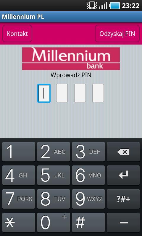 Bank Millennium Android aplikacja