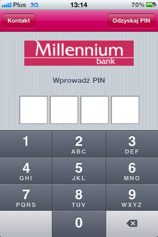 Bank Millennium iPhone aplikacja