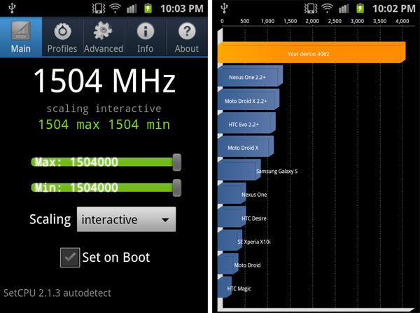 Samsung Galaxy S II modyfikacja procesora