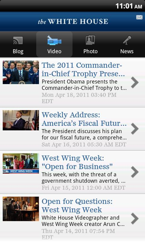 White House app Android