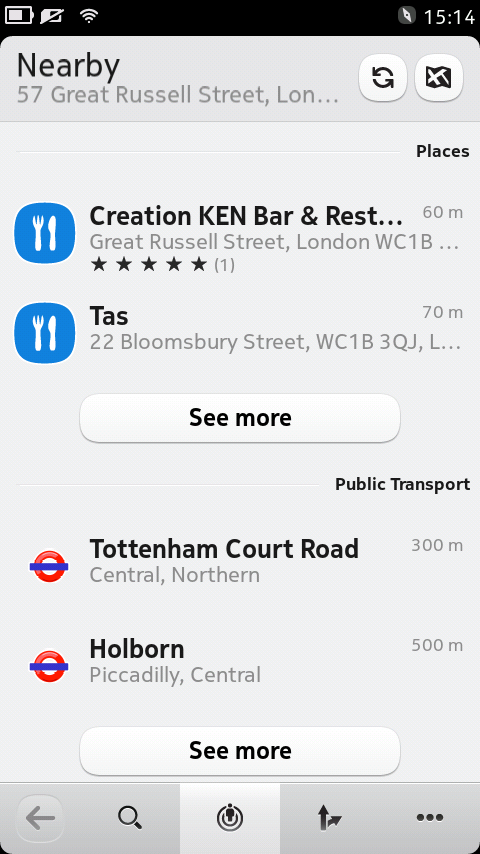 Nokia N9 Mapy