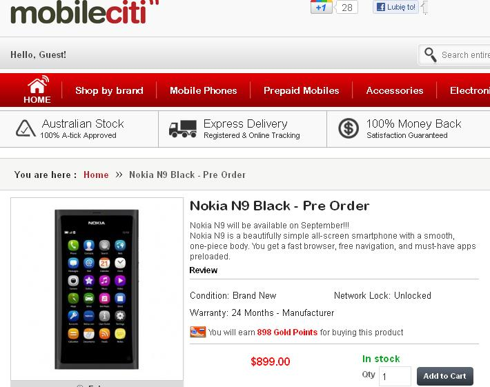 Nokia N9 mobileciti