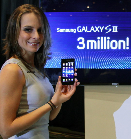 Samsung Galaxy S II 3 miliony