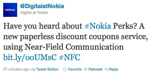 Nokia Perks Twitter