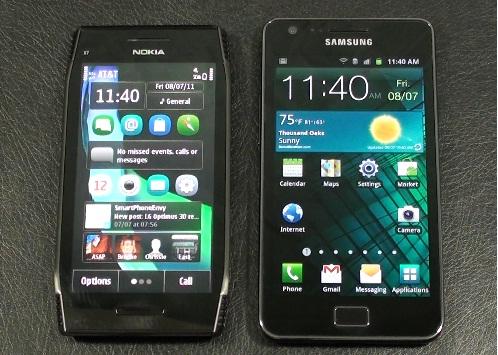 Nokia X7 vs Samsung Galaxy S II