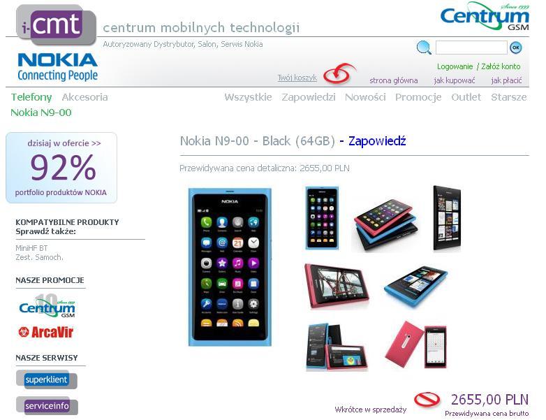 Nokia N9 ceny centrumgsm