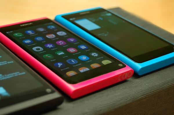 Nokia N9 black pink blue