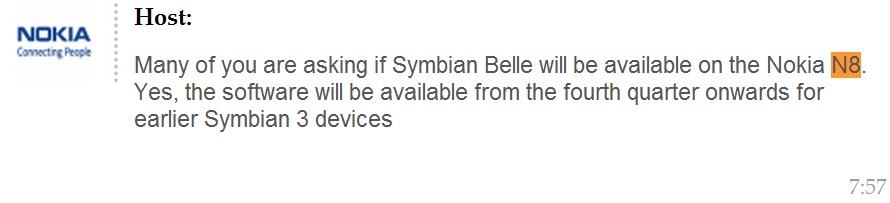 symbian belle twitter