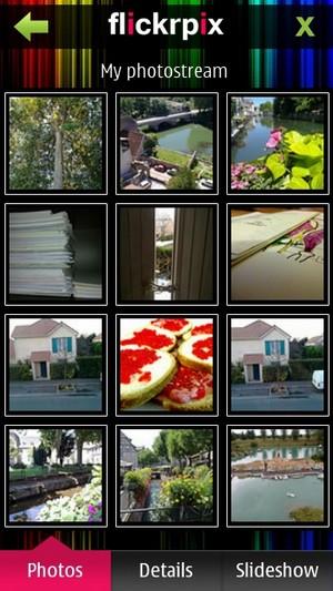 FlickrPix Nokia smartfone