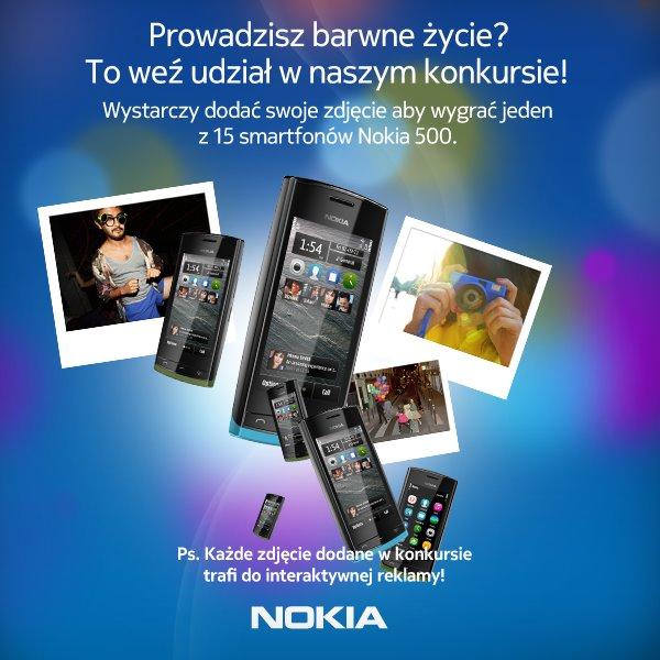 Nokia 500 konkurs Facebook
