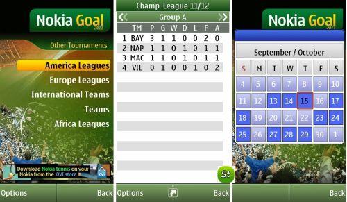 aplikacja Nokia Goal 2011