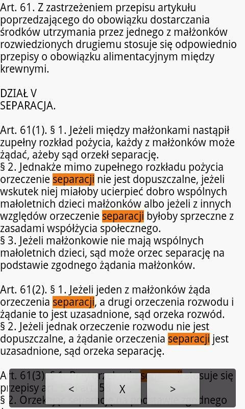 polskie kodeksy android