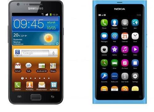 SGSII vs Nokia N9