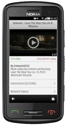 FastTube Nokia Belle
