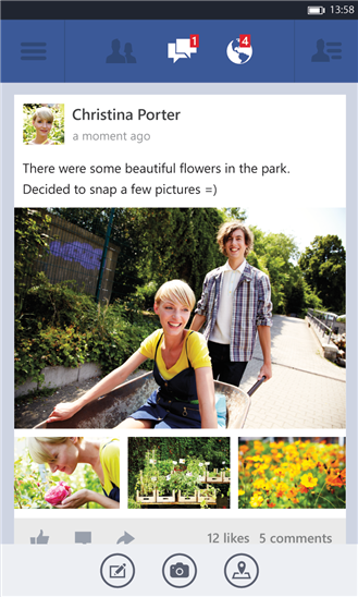 Facebook Beta Windows Phone