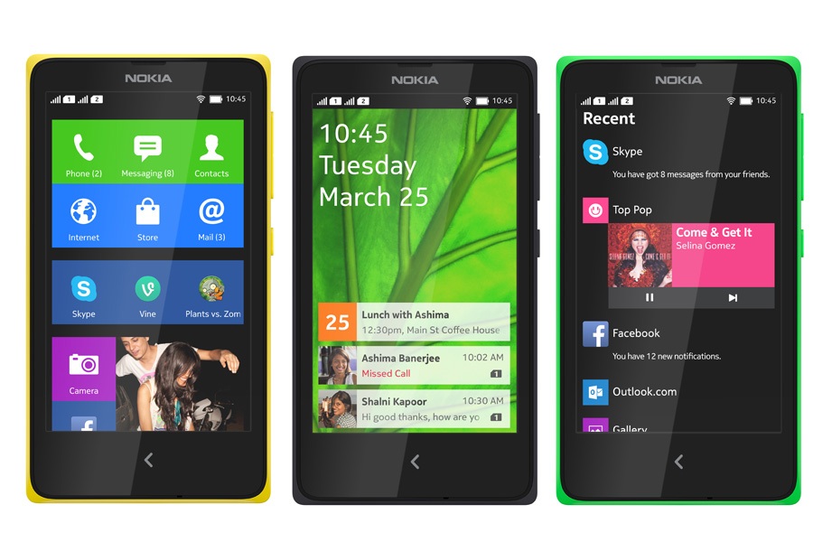 Nokia-X-screen
